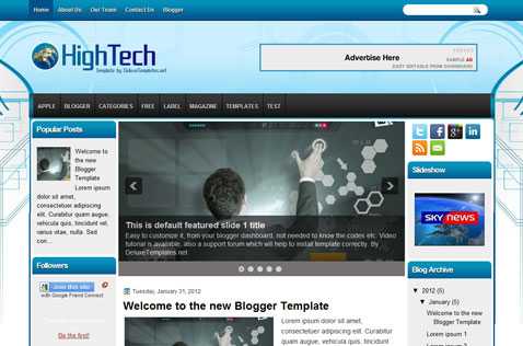 hightech-blogger-template