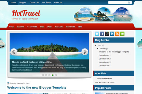 hottravel-blogger-template
