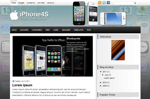 iphone4s-blogger-template