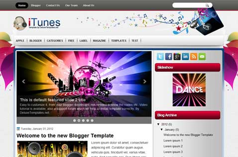 itunes-blogger-template