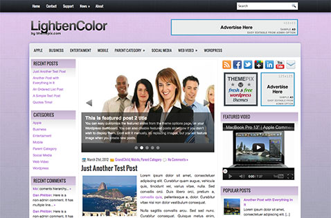 lightencolor-wordpress-theme