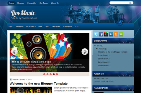 livemusic-blogger-template