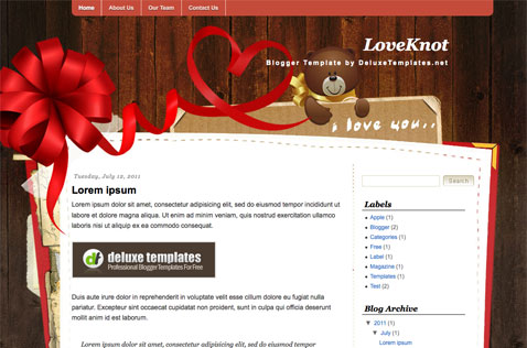loveknot-blogger-template