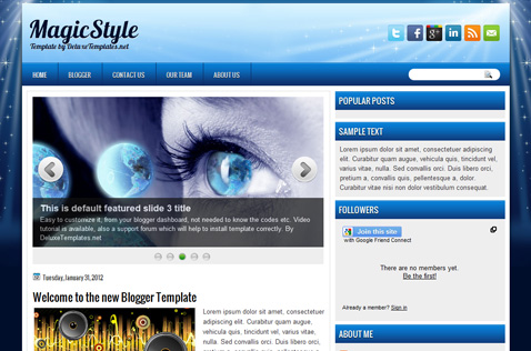 magicstyle-blogger-template