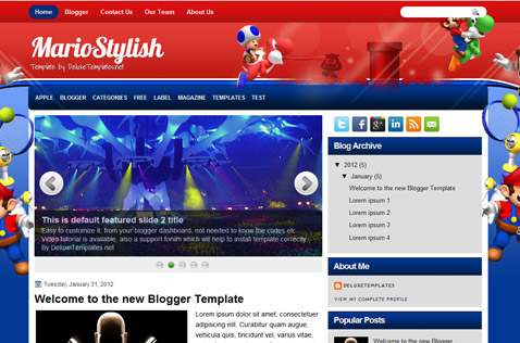 mariostylish-blogger-template