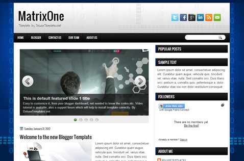 matrixone-blogger-template