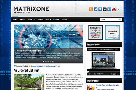 matrixone-wordpress-theme