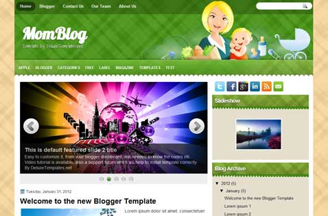 momblog-blogger-template