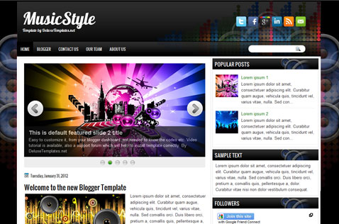 musicstyle-blogger-template