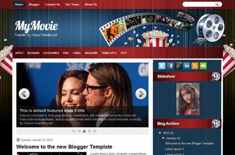mymovie-blogger-template