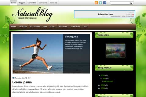naturalblog-blogger-template