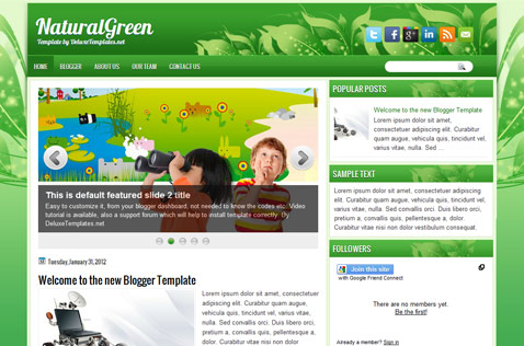 naturalgreen-blogger-template
