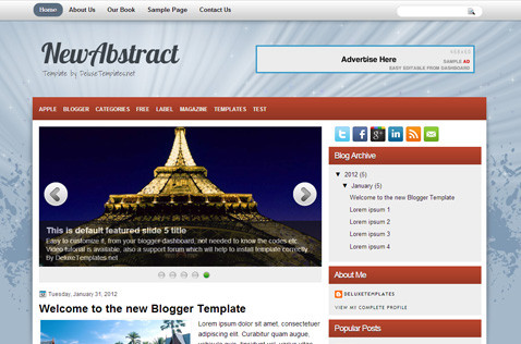 newabstract-blogger-template