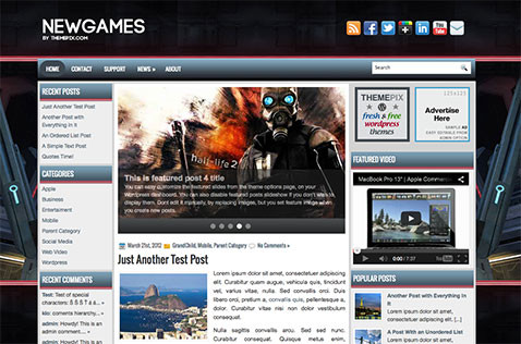 newgames-wordpress-theme