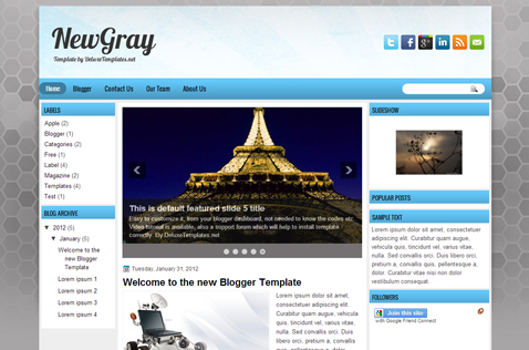 newgray-blogger-template
