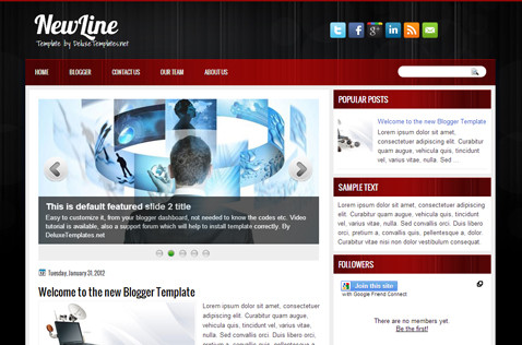 newline-blogger-template
