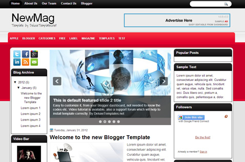 newmag-blogger-template