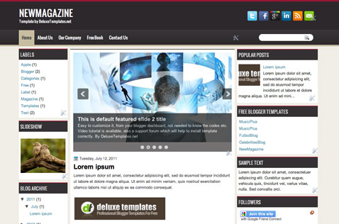newmagazine-blogger-template