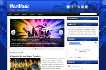 newmusic-blogger-template