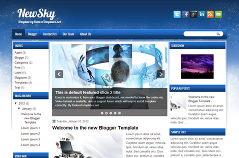 newsky-blogger-template