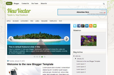 newvector-blogger-template