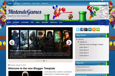 Best free blogger templates 2012.