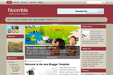 nooble-blogger-template