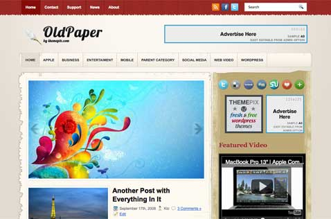 oldpaper-wordpress-theme