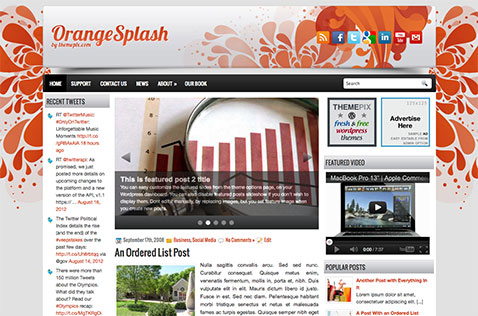 Orangesplash wordpress theme deluxetemplates for Wordpress splash page template