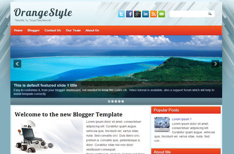 orangestyle-blogger-template
