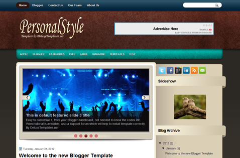 personalstyle-blogger-template