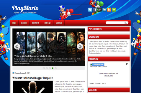 playmario-blogger-template