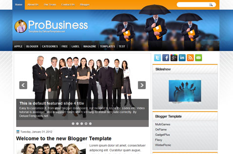 probusiness-blogger-template
