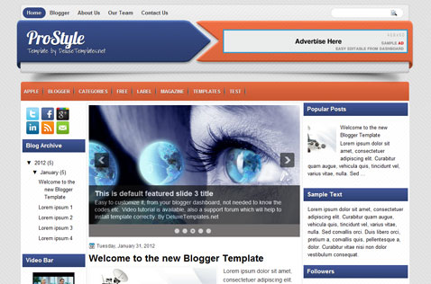 prostyle-blogger-template