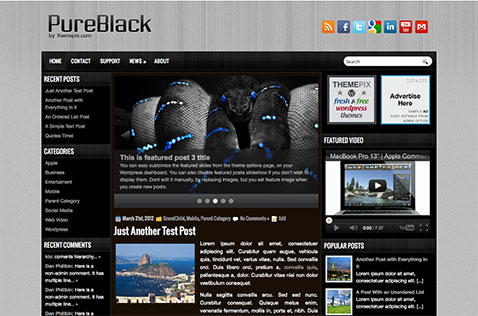 pureblack-wordpress-theme