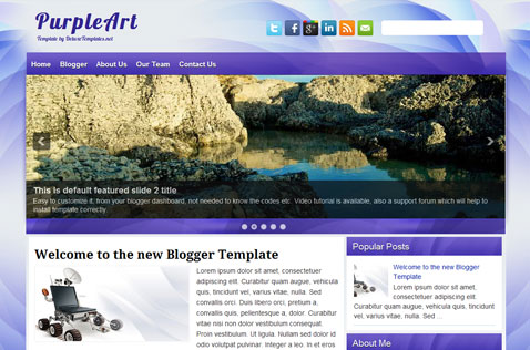 purpleart-blogger-template