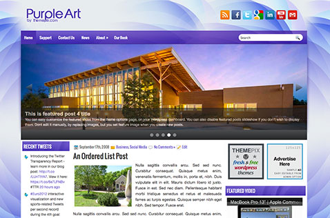 purpleart-wordpress-theme