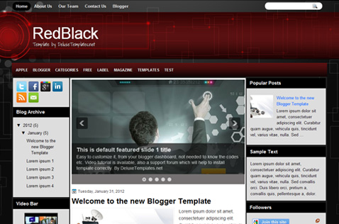 redblack-blogger-template