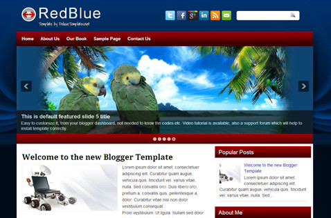 redblue-blogger-template