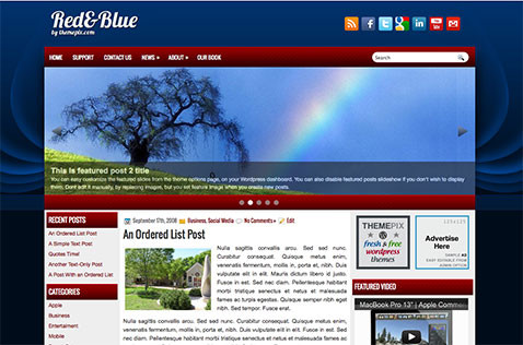 redblue-wordpress-theme