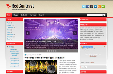 redcontrast-blogger-template