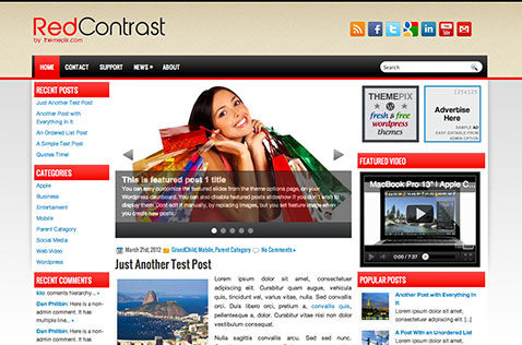 redcontrast-wordpress-theme