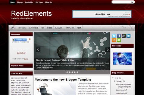 redelements-blogger-template