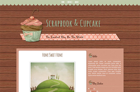scrapbook-cupcake-blogger-template