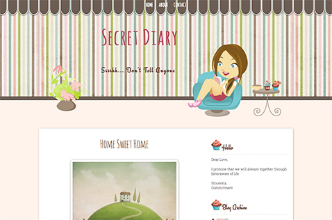 secretdiary-blogger-template