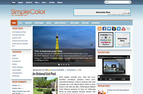 simplecolor-wordpress-theme