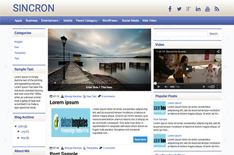 sincron-blogger-template