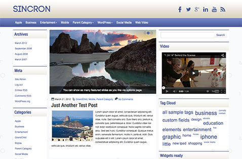 sincron-wordpress-theme