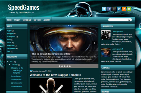speedgames-blogger-template