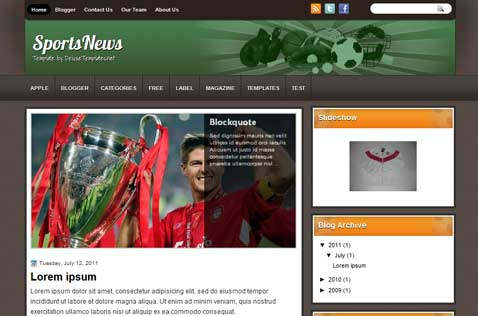 sportsnews-blogger-template